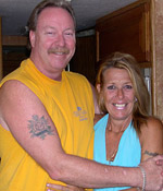 Mike & Kimberly Teel in their motorhome.